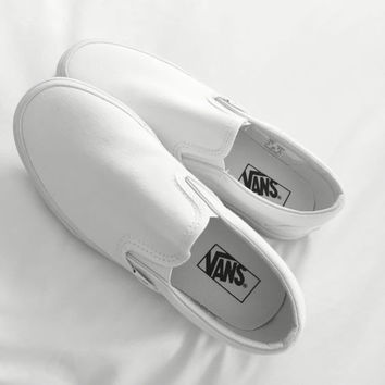 Vans Black/White Classic Canvas Leisure Shoes White