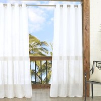 Parasol Summerland Key 84-Inch Sheer Indoor/Outdoor Window Curtain Panel