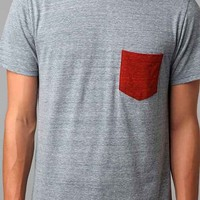BDG Triblend Blocked Pocket Tee-