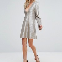 The Jetset Diaries Gold Diamond Dress at asos.com