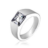 Bling Jewelry Debonair Clear Ring