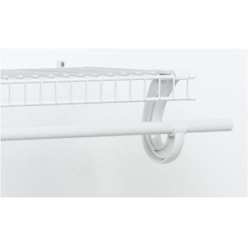 ClosetMaid® 205800 SuperSlide® Shelving Closet Hang Rod, White, 6'