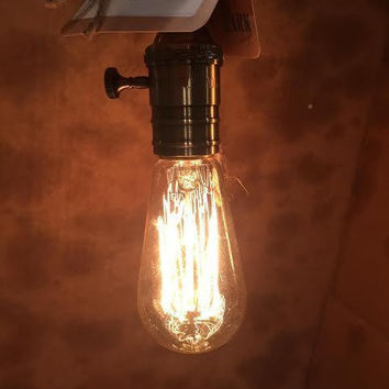Vintage Edison Filament Incandescent Clear Glass Light Bulb 40-Watts