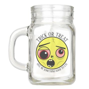 Zombie Face Trick or Treat Mason Jar