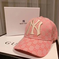 GUCCI Woman tripe Embroidery Sport Baseball Hat Cap