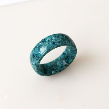 Corian ring, Turquoise ring, Turquoise rings, Green ring, Band ring, Wedding ring, Men rings, Engagement ring, Women ring, Corian jewelry