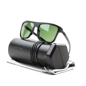 ic! berlin A0598 27 Am Faulen See Sunglasses Matte Black Rough with Green Lenses