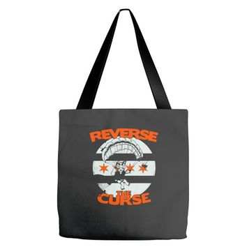 reverse the curse Tote Bags