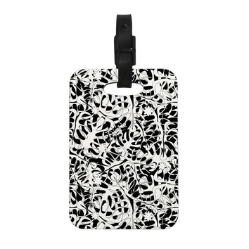 "Julia Grifol ""White Leaves"" Decorative Luggage Tag"