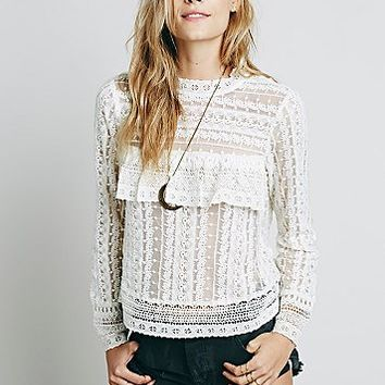 Free People Womens Be Mine Lace Top
