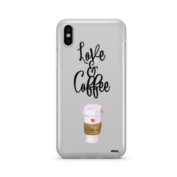 Love and Coffee - Clear TPU Case Cover Phone Case