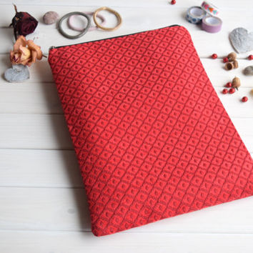 Red MacBook Air Pro 13 case, MacBook Pro Retina 13 case, MacBook 12 case, MacBook Air 11 case, MacBook 15 case, iPad Pro sleeve