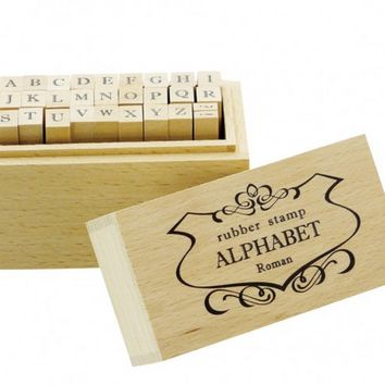Wood Alphabet Stamp Set