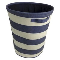 Circo™ Round Linen Basket - Set of 2 - Blue Overalls Stripe