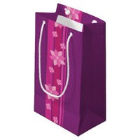 Pink Flowers Small Gift Bag