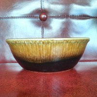 1960s Taylor Smith Taylor Cereal or Soup bowl in Brown Drip Sierra Pattern