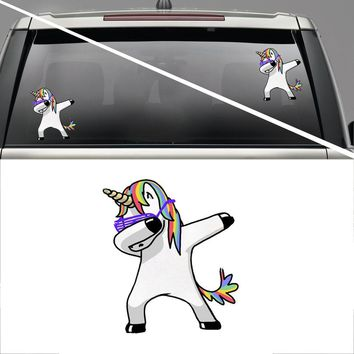 Lovely Funny Waterproof Car Stickers Unicorn Windows Decal Cartoon