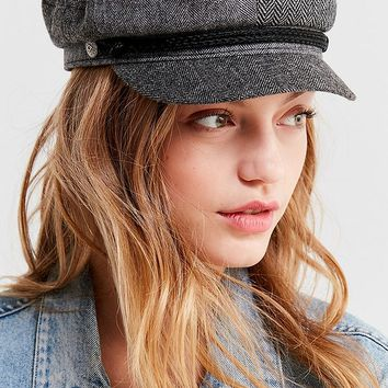 Brixton + UO Fiddler Patchwork Herringbone Fisherman Hat | Urban Outfitters