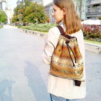 Brown Backpack - Rucksack - Canvas backpack
