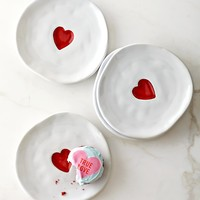 Valentine's Day Plates, Set of 4