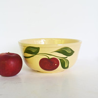 Vintage Mixing Bowl, Watt No 7 Bowl, Yellow Ware Bowl, Pottery Mixing Bowl,  Watt Bowl, Yelloware Pottery, Apple on Branch, Kitchen Bowl