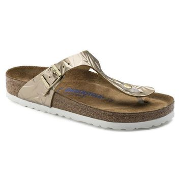 Sale Birkenstock Gizeh Soft Footbed Leather Spectral Platinum 1008467/1008468 Sandals