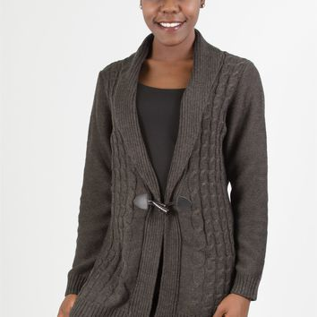 Lea 4RT259N Cable Knit Sweater Cardigan