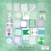 Planner Calendar Stickers- Hello December!