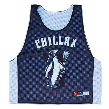 Chillax Penguin Lacrosse Pinnie