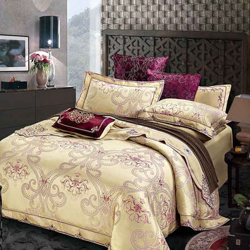 Luxury Bedding Sets Cotton High Quality Jacquard Comfortable Bedding