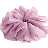 Lilac Pink Large Chiffon Scrunchies Stylish Accessories Hair Band Ponytail Holder Teen Girls Women