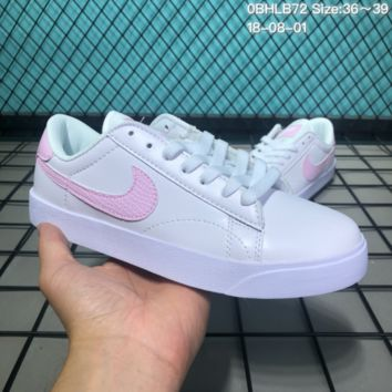 HCXX N158 Nike Tennis Classic AC Leather Casual Skeat Shoes White Pink