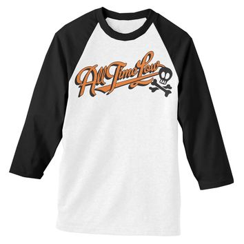 All Time Low Batter Up Black and White Baseball Tee