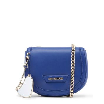 Love Moschino Blue Leather Clutch Bag