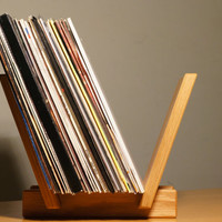 Solid Oak Wood LP Record Holder. Handcrafted in West Yorkshire. Finished in Danish oil.
