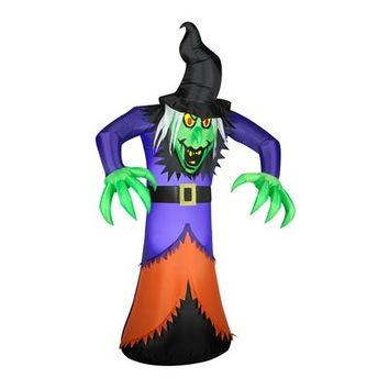 SheilaShrubs.com: Airblown Inflatable Animated Witch 54633X by Gemmy: Halloween