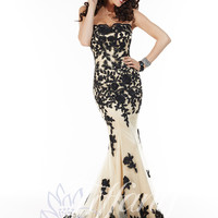 Sweetheart Beaded Lace And Tulle Formal Prom Dress By Tiffany Designs 16060