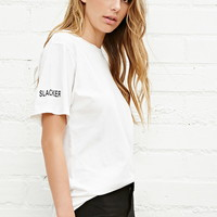 Brashy Slacker-Sleeve Tee