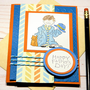 Fathers Day Cards - Happy Fathers Day - Dads Day Funny Cards - Greeting Cards Him - Cards For Husband - Father and Son - Stampin Up Cards