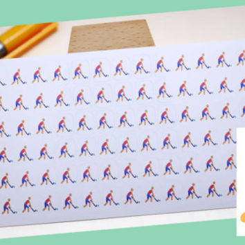 PLANNER STICKER    field hockey    sport    small colored icon   for your planner or bullet journal