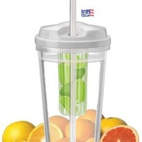 Infuser Water Tumbler, 16 Ounce - BPA Free - Create Your Own Flavored Beverage