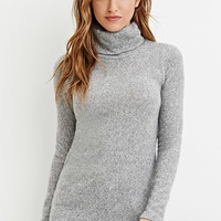 Heathered Turtleneck Sweater