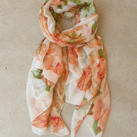 Vintage Rose Scarf [4351] - $12.00 : Vintage Inspired Clothing & Affordable Summer Frocks, deloom | Modern. Vintage. Crafted.