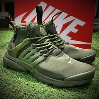 Best Online Sale Nike Air Presto Mid Utility BR Breathe Sport Running Shoes Men Army G