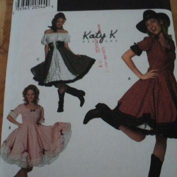 Sewing Pattern 7719 SIMPLICITY COSTUMES Misses Square Dance Southern