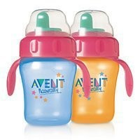 Philips AVENT Hard Spout Magic Trainer with Handle, 9 Ounce, Twin (Colors May Vary)