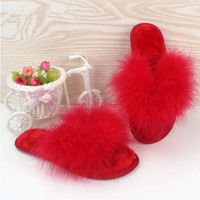 Hot Selling Sweet Spring Autumn Winter Home Plush Slippers Women Indoor\ Floor Slippers For Girls Gift Flat Shoes Free Shipping