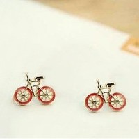 Cute Retro Bicycle Earrings Black or Red!