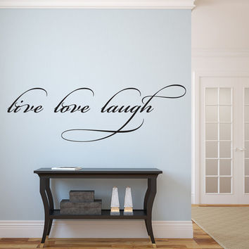 """Live Laugh Love Vinyl Wall Decal Graphic 40""""x13"""" Home Decor"""