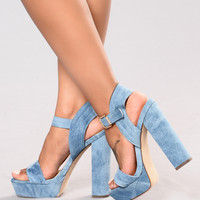 Stand Tall Heel - Denim